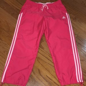 Adidas Pink ankle length pants small